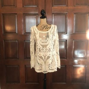 Buffalo David Bitton sheer top size small